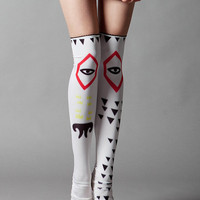 Dog Eye stockings by QooQooFashion on Etsy