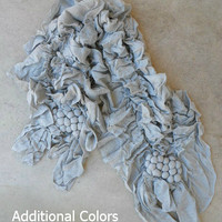 Ruffled Buon Vino Scarf [3486] - $21.00 : Vintage Inspired Clothing & Affordable Fall Frocks, deloom | Modern. Vintage. Crafted.