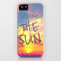 Chasing the Sun iPhone Case by Mnika  Strigel	 | Society6