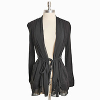 flying solo black belted cardi - $36.99 : ShopRuche.com, Vintage Inspired Clothing, Affordable Clothes, Eco friendly Fashion