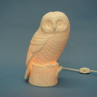 Lit Owl Figure - The Afternoon