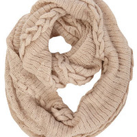 Nude plait detail snood
