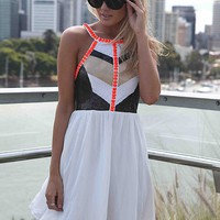 CAGE BACK SEQUIN JEWEL DRESS - Sold Out , DRESSES,,Minis Australia, Queensland, Brisbane