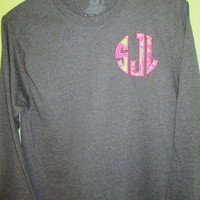 Lilly Pulitzer Applique Monogram Long Sleeve T-shirt