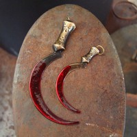 2 WEAPON Of TERROR PENDANTS Little Bloody But by ParadiseFindings