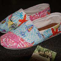 Lilly Pulitzer Inspired Handpainted Toms- Multi Pattern