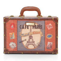 Camilla Cafe Paris Larger Rounded Suitcase - Unique Vintage - Bridesmaid & Wedding Dresses
