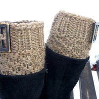 Knit Boot Cuff, coffe with milk color, chocolate-milk color ,wellies boot cuff , leg warmers,Ready to ship