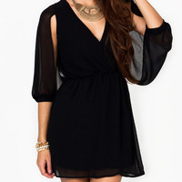 open-sleeve-dress BLACK RUBY - GoJane.com