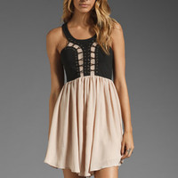 bless'ed are the meek Spare the Drama Dress in Black/Vintage from REVOLVEclothing.com