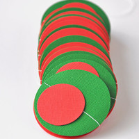 Christmas Paper Garland, Kitschy Red and Green Circles