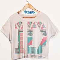 One Direction Aztec Sleeve Less Crop | fresh-tops.com