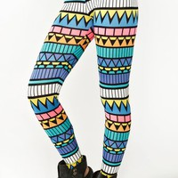 Neon Aztec Leggings