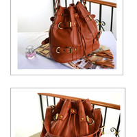 korean style Lady Hobo PU leather handbag  women fashion purse C4100