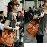 Korean Lady Hobo PU leather handbag NEW fashion shoulder bag women purse C64