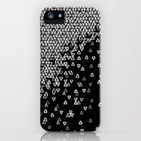 iPhone 5 Case - &quot;Negative Space Invaders&quot; Graph Drawing - unique iPhone case, art iPhone case, hipster iphone case, iphone 5 case