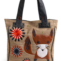 Think Inside the Fox Tote | Mod Retro Vintage Bags | ModCloth.com
