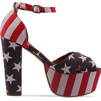 Jeffrey Campbell El Carmen in Stars And Stripes at Solestruck.com