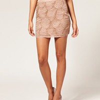 ASOS | ASOS Scalloped Embellished Mini Skirt at ASOS
