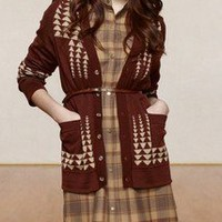 Pendleton Portland Collection Arrow Cardigan- rust | Tigertree Arrow Cardigan- rust