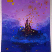 Tangled Concept Inspired Painting by jackiegarcia101 on Etsy