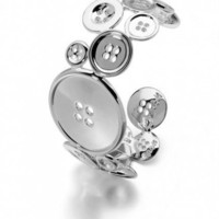 Button Bangle ( Sterling Silver) from LucyQ Designs | Made By LucyQ | £425.00 | Bouf