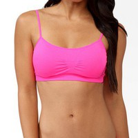 Ruched Piped Sports Bra