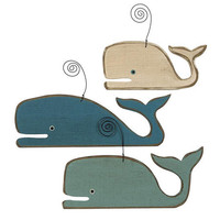 Wood Whale Ornaments | OceanStyles.com