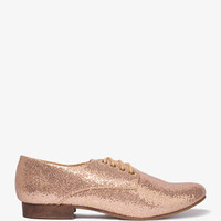 Glittered Lace-Up Oxfords | FOREVER21 - 2021841164