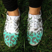 Ombre Leopard Print Shoes