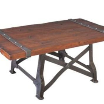 One Kings Lane - The Den - Sarreid Industrial Coffee Table