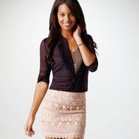 AE Crocheted Lace Miniskirt | American Eagle Outfitters