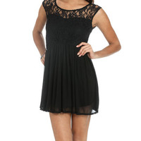 Lace Chiffon 2Fer Dress | Shop Dresses at Wet Seal