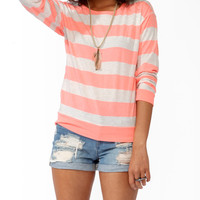 Heathered Striped Top