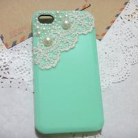 Lace Pearl iPhone Case fits for iPhone 4 Case, iPhone 4s Case, iPhone 4 Hard Case, iPhone Case
