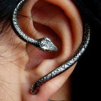 Cobra Fashion Statement Single Ear Wrapping Cuff  | LilyFair Jewelry