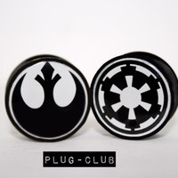 Star Wars Rebel Vs. Imperial The Battle For Your Ears Begins Plugs by Plug-Club