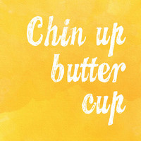 Chin Up Butter Cup Stretched Canvas by Stacia Elizabeth | Society6