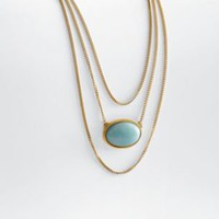 amazonite statement necklace from RedEnvelope.com