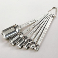 Rectangular Stainless Steel Measuring Spoon Set
