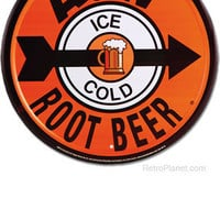 A & W Root Beer Tin Sign: Home & Business Decor with Ad Metal Signs RetroPlanet.com