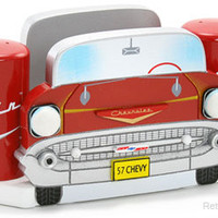 Chevrolet Bel Air Napkin Holder Salt &amp; Pepper Shakers RetroPlanet.com