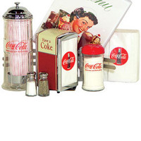 Coca Cola Tableware Sets Restaurant Tabletop Dispensers Set from RetroPlanet.com