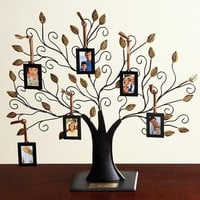 Oversized Metal Family Tree Sculpture