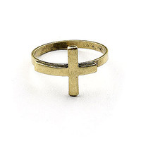Cross Bender Ring | Trendy Rings at Pink Ice