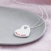 Personalised Porcelain Heart Necklace