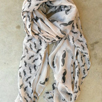 Cheeky Mustache Scarf [3496] - $16.00 : Vintage Inspired Clothing & Affordable Fall Frocks, deloom | Modern. Vintage. Crafted.