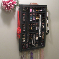 Jewelry Organizer in distressed black and copper