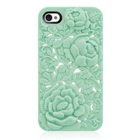 Unique Design Rose Embossing Case for iPhone 4