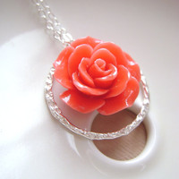 Coral Necklace with Eternity ring and Peach by RachellesJewelryBox